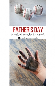 Baseball Handprint Craft