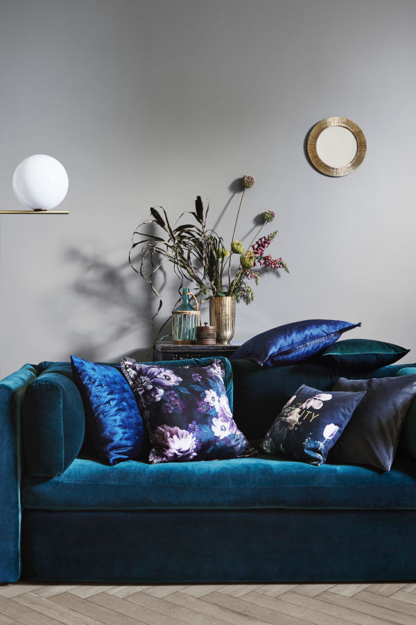Velvet Fringe-Trimmed Cushion Covers