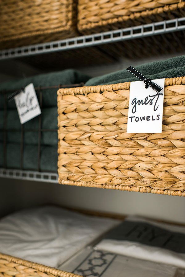Organize With Baskets and Labels