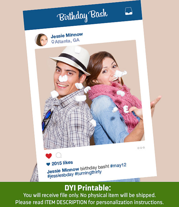 instagram frame photo booth
