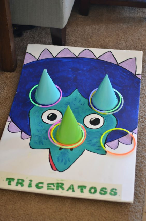 Dino-Mite Ring Toss Party Game