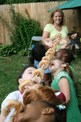 Donut on a String Party Game