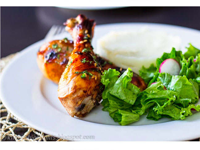 Sweet & Sticky Chicken Drumsticks