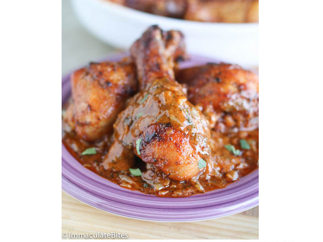 Creamy, Spicy Baked Chicken Legs