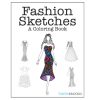 Fashion Sketches Colouring Book