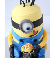 Gigantic Minion Layered Cake