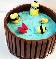 Minion HotTub Cake