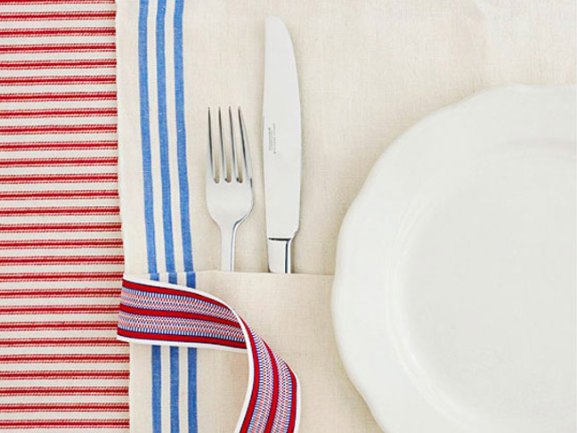 Red White and Blue Table Settings