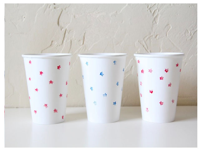 Star Stamped Cups