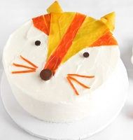 Cut up Fruit by the Foot for a cool fox cake.