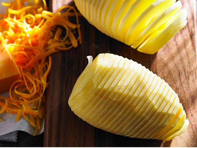 Hasselbacks With Cheese