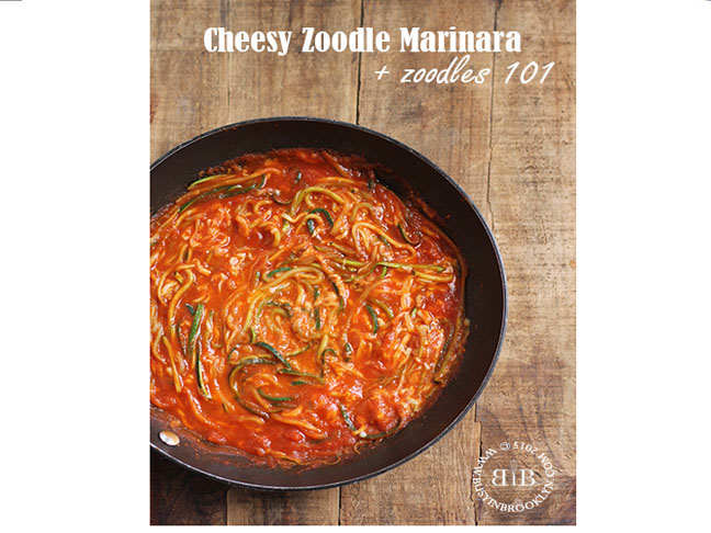 Cheesy Zoodle Marinara