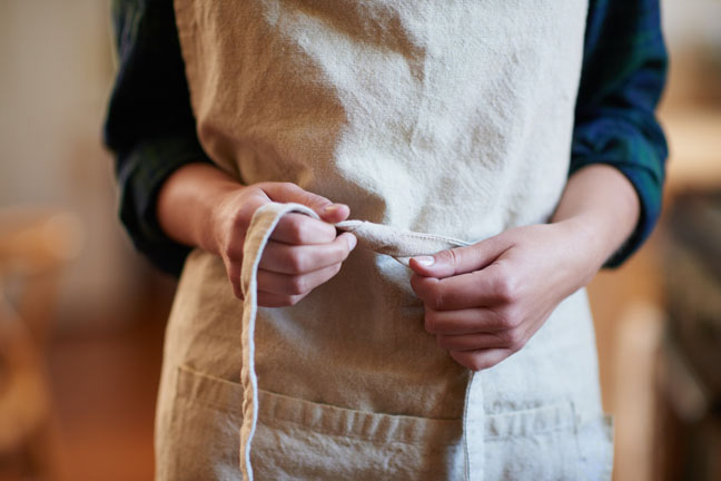 You don't own an apron with big enough pockets.