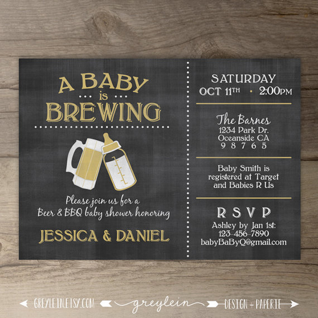 Good Coed Baby Shower Themes Part - 6: Baby Is Brewing