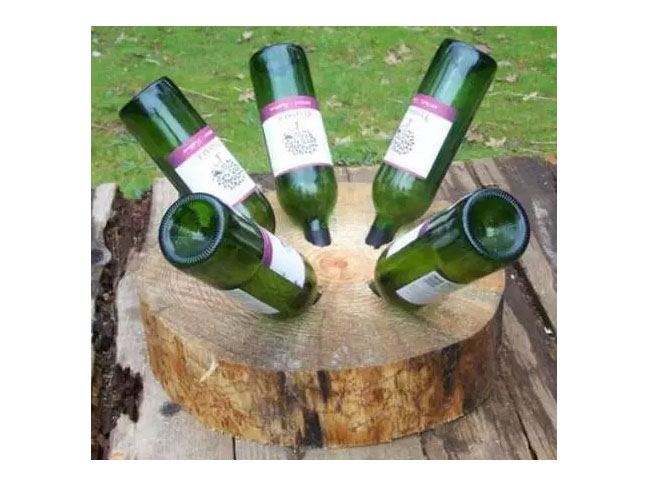Tree Stump Wine Rack