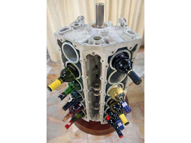 Car Engine Wine Rack