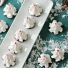 Chocolate Peppermint Meringue Christmas Trees