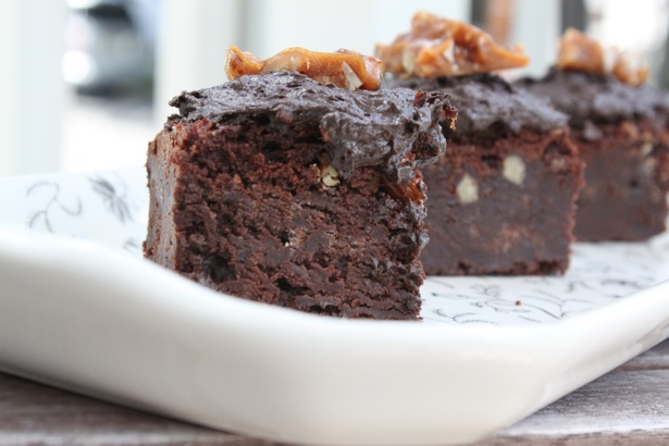 Pecan, Bourbon, and Bacon Brownies