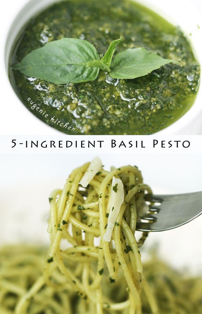 5-Ingredient Basil Pesto Pasta Sauce