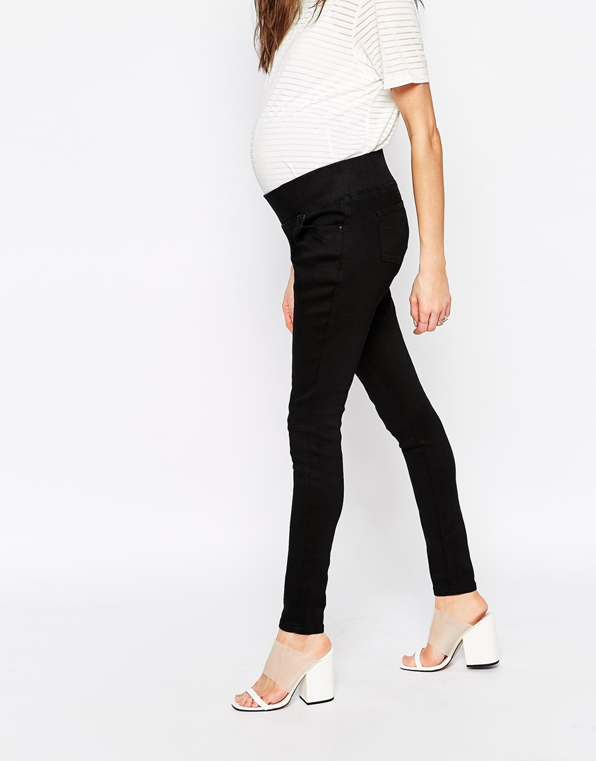 ASOS DESIGN Maternity pull on jeggings in washed black with over the bump waistband. £ GeBe Maternity over-the-bump skinny jeans. £ ASOS DESIGN Maternity Ridley skinny jeans in clean black with over the bump waistband. £