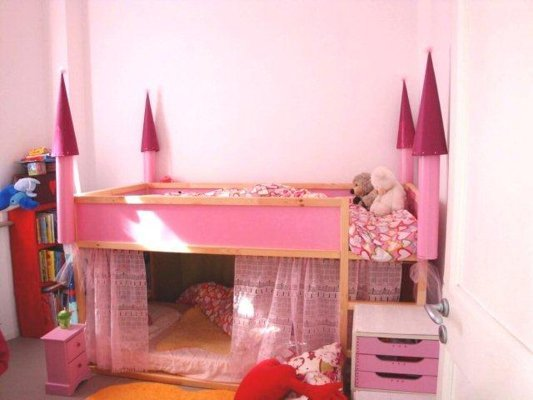 Pink Princess Castle Bunk