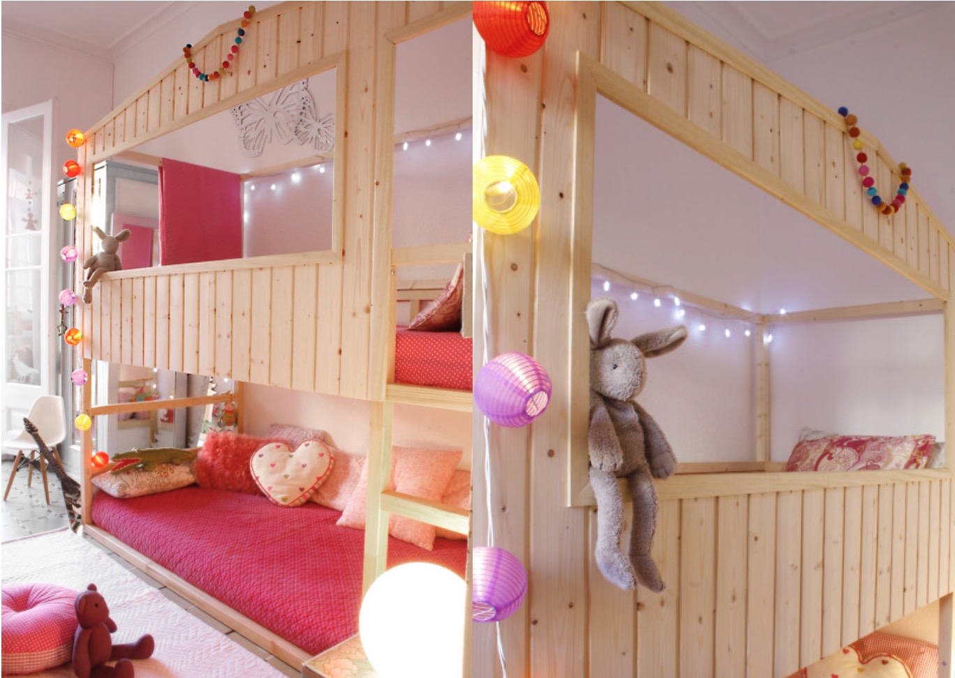 31 ikea bunk bed hacks that will make your kids want to share a room. Black Bedroom Furniture Sets. Home Design Ideas