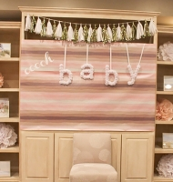 Ooo, Baby Pink & Gold Sparkle Baby Shower
