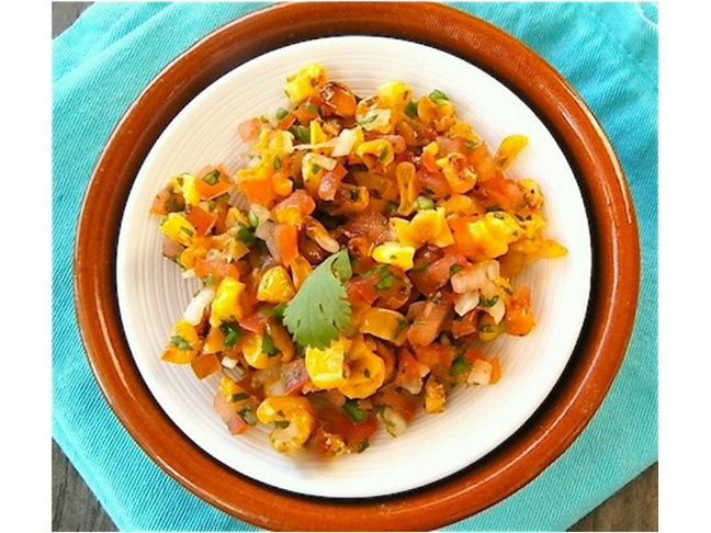 Raw Corn Salsa