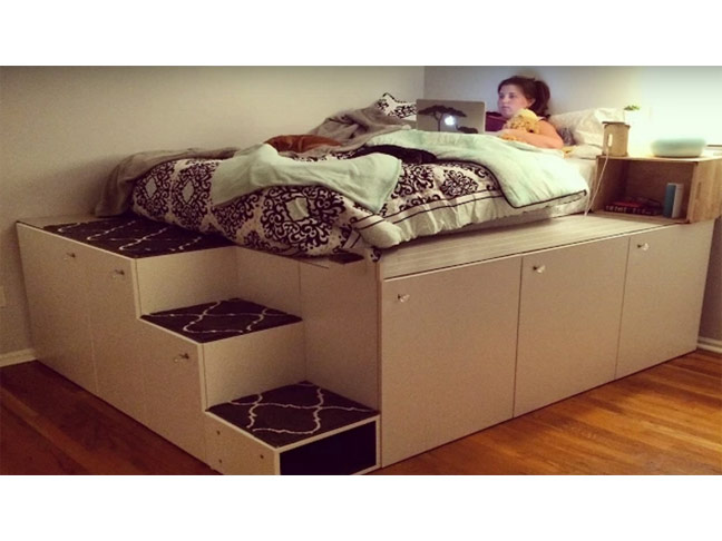 31 impressive space saving hacks for every room in your house for Space saver beds ikea