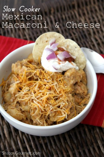 Slow Cooker Mexican Macaroni and Cheese