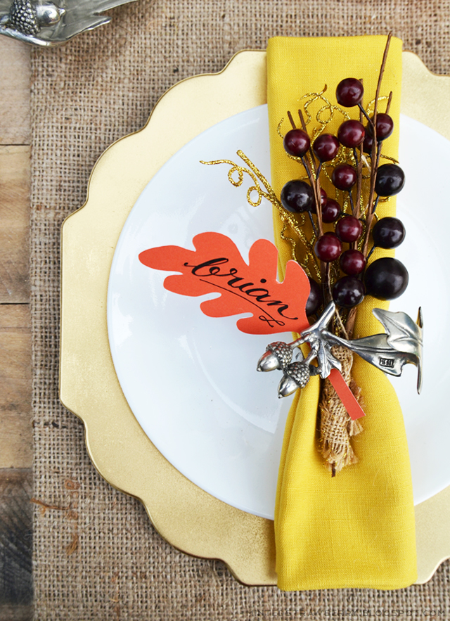 Fall Berry Place Cards