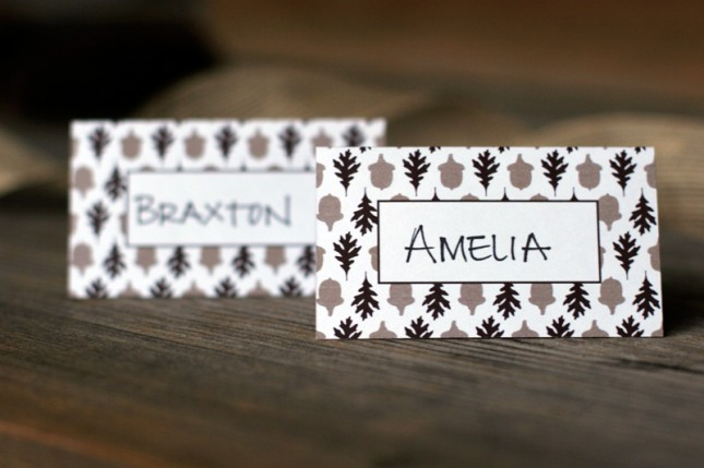 Simple Printable Place Cards