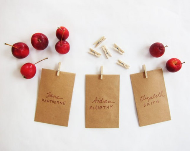 Kraft Paper Place Cards