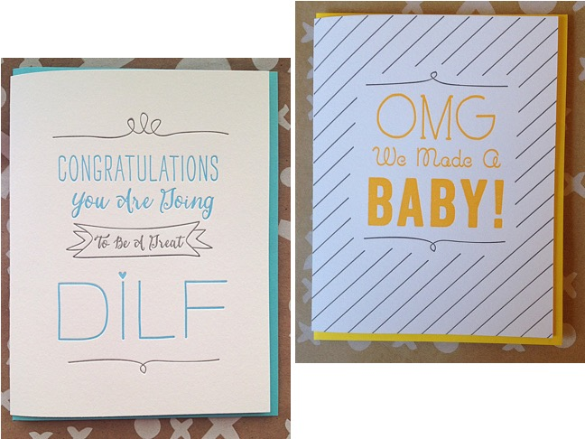 DILF Embossed Cards
