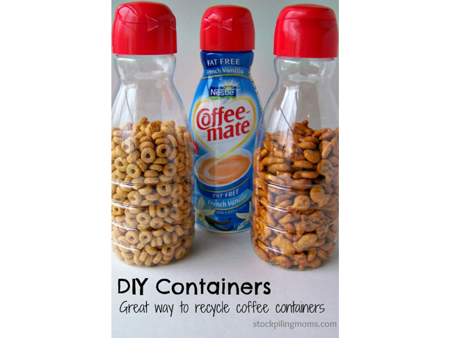 Recycled Snack Containers
