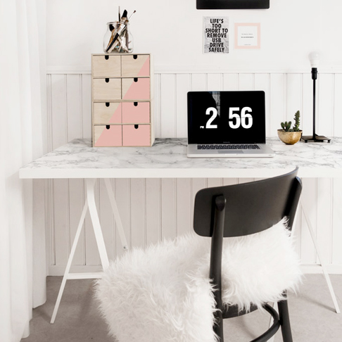 top faux marble desk upgrade from ikea sweden with plan snack ikea. Black Bedroom Furniture Sets. Home Design Ideas