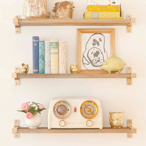 Vintage Glam Shelving from Lay Baby Lay