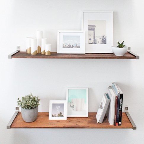 Rustic Reclaimed Style Shelves from Sugar & Cloth