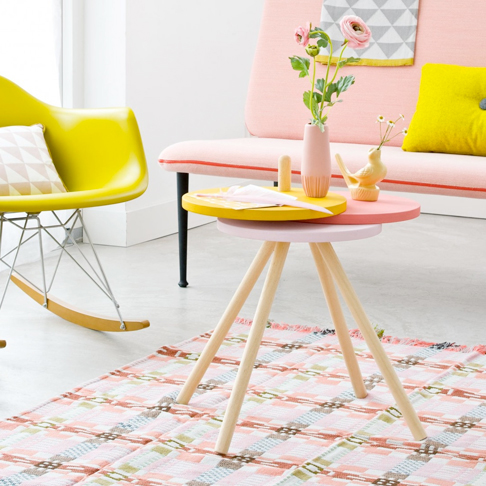 Colorful Expanding Side Table from Vtwonen