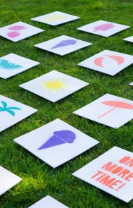 DIY Giant Outdoor Matching Game
