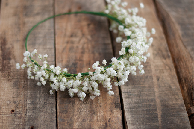Baby's Breath Crown for the Mom-to-be