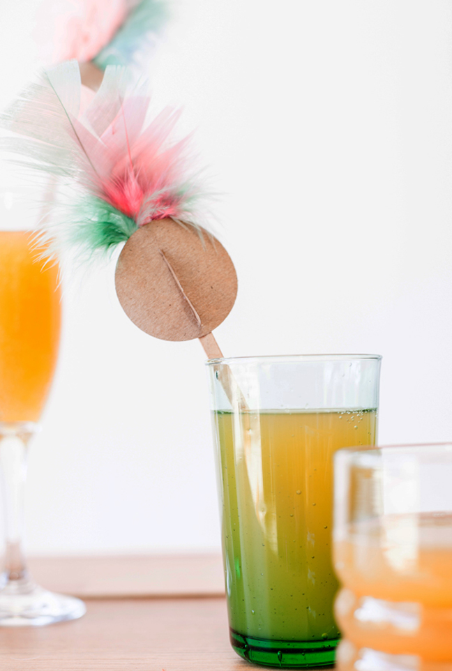 Fancy Feather Drink Stirrers