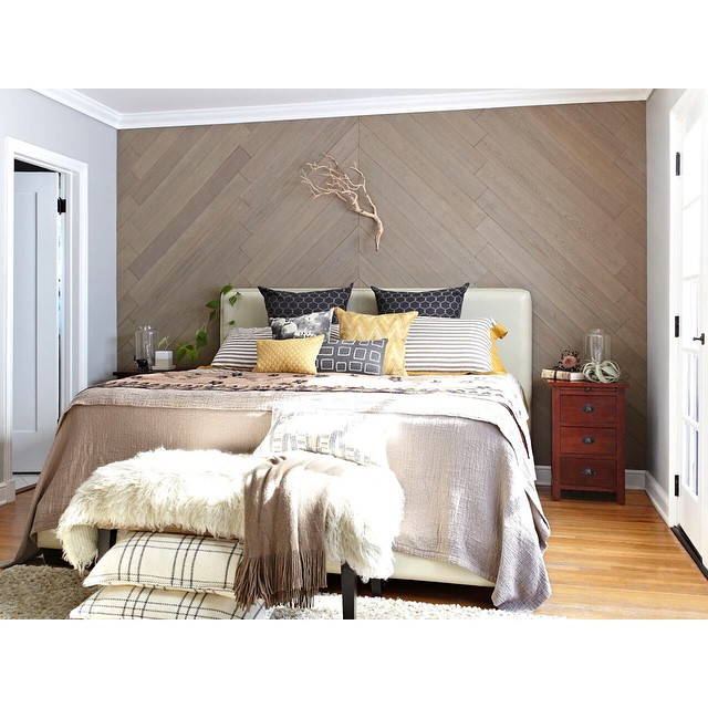 Accent Decorative Wall Wood Pattern Ideas Diy: DIY Easy Peel And Stick Wood Wall Decor
