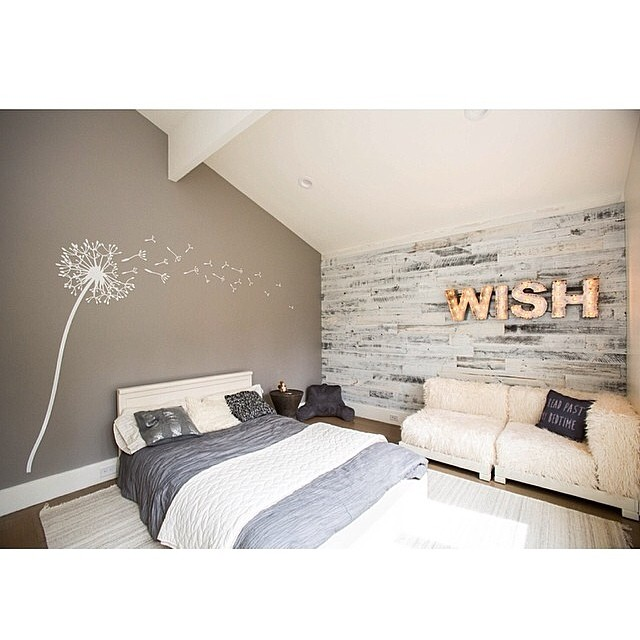 Wood Accent Wall Bedroom Ideas: DIY Easy Peel And Stick Wood Wall Decor