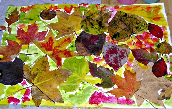 Easy Leaf Art