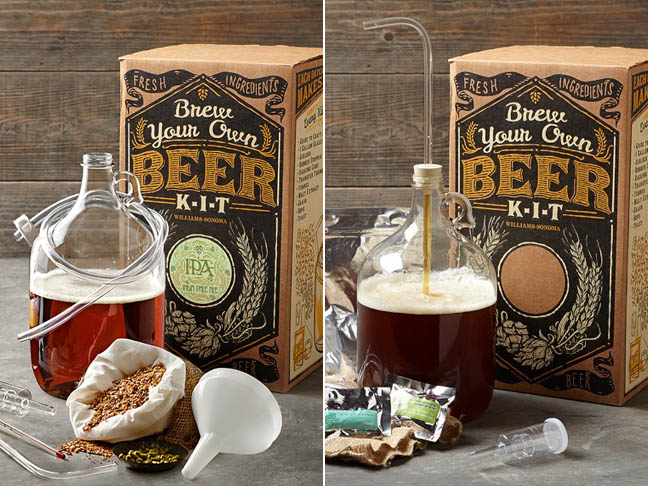 Brew Your Own Beer Kits from Williams-Sonoma