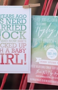 Watercolor Baby Shower Theme