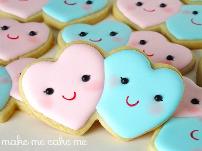 Heart Face Cookies