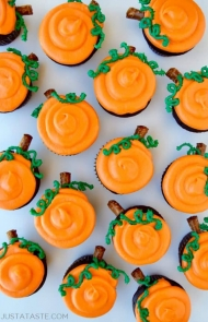 Chocolate Halloween Cupcakes With Cream Cheese Frosting