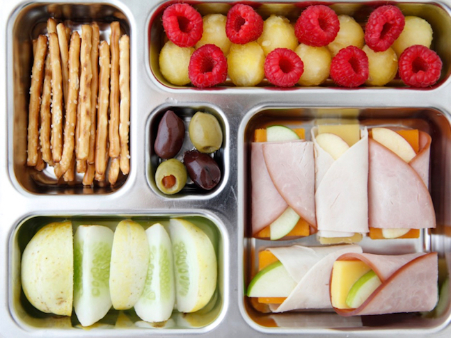 Apple, Turkey and Cheese Roll-Up Toddler Lunch